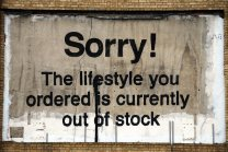 Poster BANKSY ' Sorry The lifestyle you ordered '