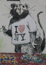 Banksy Rat Love NY