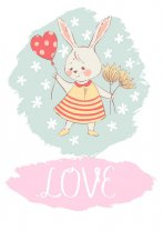 Cute Rabbit Girl LOVE Poster. COOL!!!