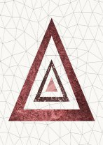 Stylish Triangles Trio Poster Rose Gold Geometrical Nordic Hygge Art