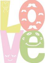 LOVE Stunning Scandi Minimalistic Poster