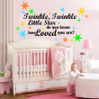 'Twinkle, Twinkle Little Star...' Nursery Kids Room Large Wall Decal With Stars In 4 Colours