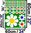 Colourful Daisy Car - Fridge - Laptop - Kids Room Wall Sticker