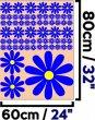 Lovely Daisy Car - Fridge - Kids Room - Laptop - Set of 63 Vinyl Stickers
