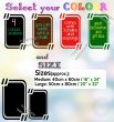 Chalkboard fridge sticker + free chalks and sponge. Four lovely colours availabl
