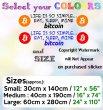 Life Is So Simple... Eat, Sleep, Mine Bitcoin! Huge Removable Wall Sticker Premi