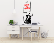 Banksy 'Because I'm Worthless' Rat with Sign Graffiti Artwork Vinyl Wall Sticker