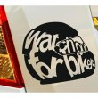 Designer's - Motorcycle helmet - Watch out for bikers - car stickers