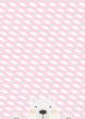 Cute Bear Scandinavian Scandi Nordic Decor Pink - Blue Hygge Poster