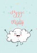 Hygge Everyday Scandi Nordic Design Happy Cloud Poster