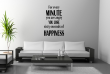 JC Design 'For every minute you are angry you lose sixty seconds of happiness.' Vinyl Wall Quote