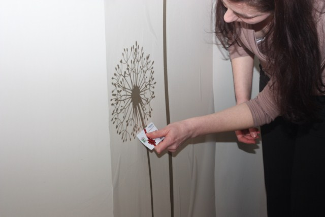 How To Apply A Wall Stickers Step 5